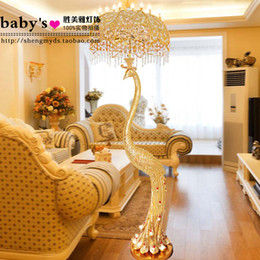 Wholesale Luxury Peacock Crystal Floor Lamp Fashion Decoration Lighting  Lamps
