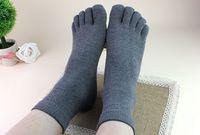 Wholesale Wholesalers Formal Shoes - Men men's Socks Cotton Sports Ideal For Five 5 Finger Toe Shoes Unisex Hot 2015 005A