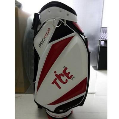 "best selling Wholesale-Tice Golf Bag Promotion Staff Bag Top Waterproof PU 9.0"" 5 Ways"