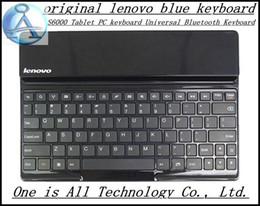 "Wholesale Lenovo Wireless Keyboard - Wholesale-Free shipping 100% Original Aluminum Metal Stand Wireless bluetooth keyboard Case Cover Lenovo S6000 10.1"" inch tablet"