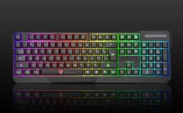 Wholesale rainbow usb - Wholesale-MOTOSPEED K70 Rainbow Color LED Backlit USB Wired Waterproof Gaming Keyboard