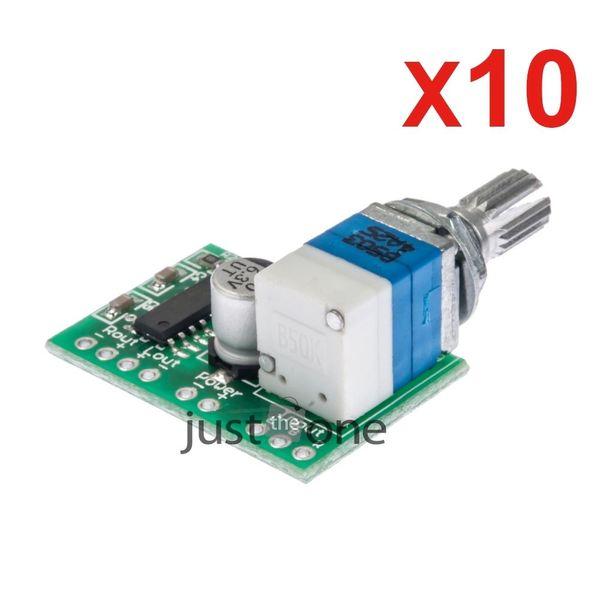 Wholesale-Wholesale 10 pcs lot PAM8403 5V DC Audio  Board 2 Channel 3W*2 Volume Control