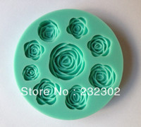 Wholesale Bar Soap Rose - Free shipping 1Pcs Rose shape Chocolate Candy Jello silicone Mold Mould cake tools Bakeware Pastry bar Soap Mold C010