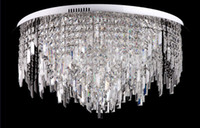 led luminaire design with best reviews - Wholesale-new flower design Modern ceiling Crystal chandelier lighting for living bedroom LED Luminaire guarantee 100%