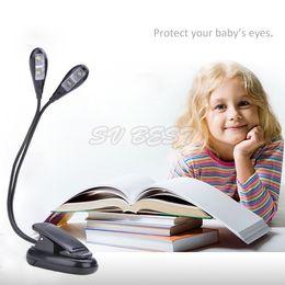 Wholesale New Ebook Pc - New 2015 360 Degree 4 Leds Mini Flexible Clip Stand Led Book Ebook Light Laptop PC Reading lamp 51 SV009609
