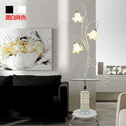 Wholesale Ikea Bedside Table Lamps - Wholesale-Simple and modern western style floor lamp living room coffee table IKEA lily study bedroom bedside lamp standing lamp