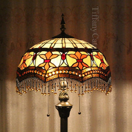 Wholesale Continental Tiffany Stained Glass Floor Lamp Lamps Bedroom Living Room Dining Den Cafe Cheap
