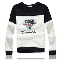 Wholesale Matching Sweatshirt - Diamond Sweatshirt 2016 Spring Lover Matching Couple Diamond Supply Co Hoodie Plus 3XL Sudaderas Diamond Crewneck Sweatshirt