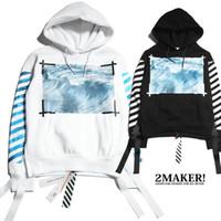 Wholesale White Collar Suit Designer - BEST!!streetwear mens fashion couple hoodies designer sweat suits black white brand men hoodie kanye west off white virgil abloh