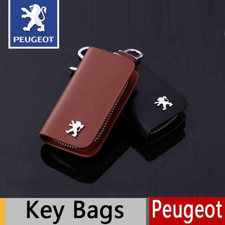 hot sale leather key wallets key holder peugeot 206 207 301 307