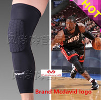 Wholesale Knee Padded Tights - Wholesale-High Quality Mcdavid Breathable Basketball Footable Sports Kneepad Honeycomb Pad Bumper Tight Kneelet Bycicle Protective Knee
