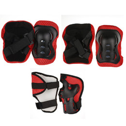 Wholesale Kids Skating Pads - Wholesale-Colourful Safe Baby Kid Roller Skating Skateboard Biking Bike Riding Wrist Elbow Knee Protector Guard Pad Gear