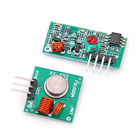 Wholesale Transmitter Receiver For Rf - Wholesale-Hot Sale 433Mhz RF transmitter receiver link kit for Arduino ARM MCU remote control TR