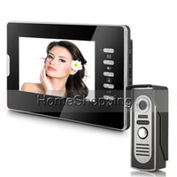 """Wholesale Cheap Phone Intercom Systems - Wholesale-Brand New Cheap Wholesale Wired 7"""" inch Color Video Door Phone intercom System One Monitor IR Door Camera FREE SHIPPING IN"""