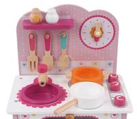 al por mayornueva llegada juguetes para nios cocina para cocinar juguetes set rosa estufa