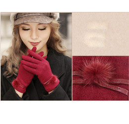 Wholesale Wholesale Personalized Gloves - Wholesale-Elegant Lady Warm Wool Knit Glove Personalized Woman Winter Gloves