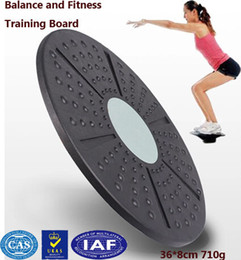 Wholesale twister plate fitness - Wholesale-Twist board Balance board trainer to slimming health waist twisting disc twister game mat wriggling round plate 36*8cm