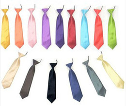 Wholesale Boys Satin Tie - Wholesale-Wholesale Satin Elastic Neck Tie for Wedding Prom Boys Children School Kids