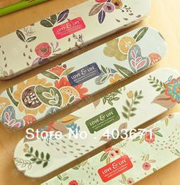 Wholesale Life Style Pencil Case - Wholesale-New fashion love life style Tin Pencil case   metal Pen box   Wholesale