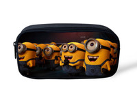 Wholesale Despicable Pouch - Wholesale-New Despicable Me Pencil Case for Students Minions Cartoon Canvas Pencil Bags Kids School Stationery Pouch Escolares Party Gifts