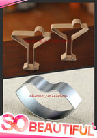 Wholesale Cookie Glass - Wholesale-Romantic Style Cocktail Glass Cup + Hot Lip Shape Metal Cutter Mold Fondant Cake Cookie Cutters DIY Decorating Mould