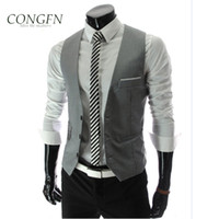 wholesale 2015 new clothing casual wedding suits for men waistcoat blazer single breasted pockets gentleman xxl four color free shipping