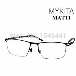 2019 gafas mykita ¡Al por mayor-CALIENTE !!! Alemania Mykita MATTI marco de los vidrios de las gafas marco completo marco ultra ligero de los hombres gafas envío gratis rebajas gafas mykita