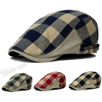 Visor Casual others Wholesale-Newest Fashion Duck Mesh Summer Gatsby Cap Mens Ivy Hat Golf Driving Sun Flat Cabbie Newsboy Hot Sale Free Shipping