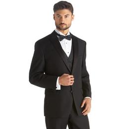Discount Men Black Suit Blue Bow Tie | 2017 Men Black Suit Blue ...