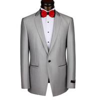 Wholesale Men S Dress Pant 42 - Wholesale-Mens Suits And Tuxedos Men Suits Brand Latest Design Suits Sliver One Button Two Pieces Coat+Pants Evening Dresses