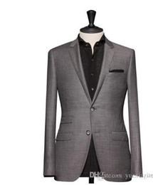 Оптово-подходит для светло-серый жениха лучший человек лучший мужчина костюм обычай (пальто и брюки) Формальные Пром