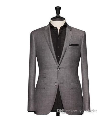Wholesale-suitable for light grey the groom's best man best man suit custom (coat and pants) Formal Prom