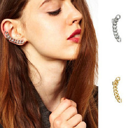 Wholesale Samples For Earrings - Wholesale-Fashion cheap ear clip earrings Punk sample alloy earrings jewelry One piece for right earring