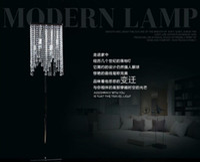 supports à cristaux liquides achat en gros de-Gros-Mode cristal lampadaire chambre chevet LED lampe salon lampadaire cristal moderne cristal éclairage stand lampes
