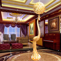 Wholesale Luxury Peacock Crystal Floor Lamp Fashion Lamps Crystal Lamp