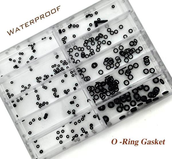 Atacado-10 Tamanho Rubber Watch O-Ring GASKET definido para o relógio Crown Peças de relógios à prova d'água Relojoeiro Repair Set Tool Kit