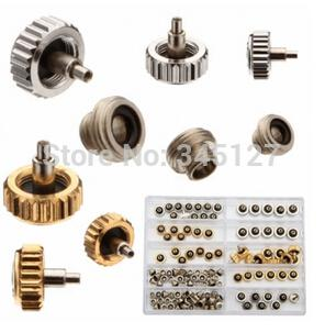 Wholesale-New 2015 Golden And Silver Watch Crown Watch Parts Repair Tools For RLX
