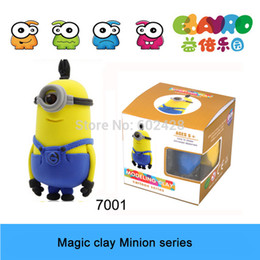 Wholesale Wholesale Air Dry Clay - Wholesale-Air Dry Clay Toys Despicable Me The Minion Action Figure Free Shipping Hot selling Gift For Children