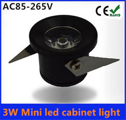 Wholesale-10pcs/lot 3W Mini led cabinet light AC85-265V mini led spot downlight include led drive CE ROHS ceiling lamp mini light