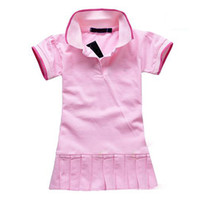 Wholesale One Piece Child Dress - Wholesale-Children Dress(1-5y) New Spring Summer 2015 Baby Infant Girls Brand Polo Dress children kids Princess tennis One-piece Dresses