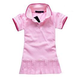 Wholesale Wholesale White Polo - Wholesale-Children Dress(1-5y) New Spring Summer 2015 Baby Infant Girls Brand Polo Dress children kids Princess tennis One-piece Dresses