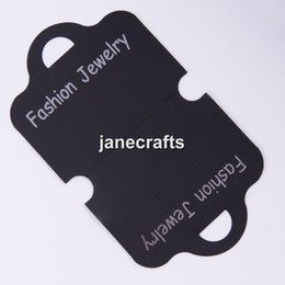 Wholesale Earring Pendant Display Cards - Wholesale-200pcs 121*70mm Black Plastic Custom Jewelry Earring Bracelet Packaging Display Cards Holder Necklace Pendant Hanging Tags Card