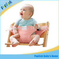 Wholesale Brand Portable Baby Kids Chair Child High Chairs Seat Belts Safety Belt Folding Dining Lunch Feeding Seat