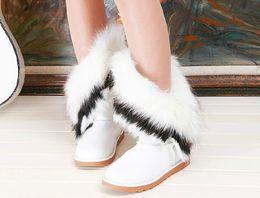 Wholesale Models Fur Snow - Wholesale-2015 explosion models fox fur plush new winter boots women snow boots warm thick crust version of women's boots big yards
