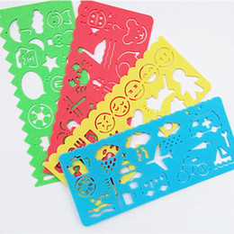 wholesale 4pcs kids plastic picture drawing stencil for painting children drawing template board kids diy painting for baby girl boy gift kid plastic - Kids Drawing Stencils