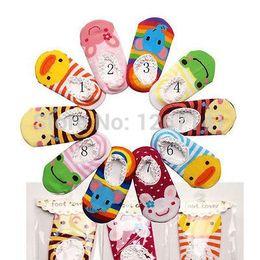 Wholesale Toddler Slipper Socks Skid - Wholesale-Free Shipping Infant Toddler Baby Animal Cartoon Slipper Skid Sock Shoes Unisex Christmas gift FZ1410 6Ia4hs