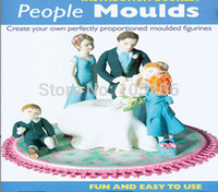 Hot Sale Fondant 3D People Shaped Cake Figure Mold Family Se...