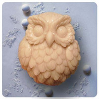 Wholesale Silicone Owl Soap Molds - Owl S0142 Craft Art Silicone Soap mold Craft Molds DIY Handmade soap molds