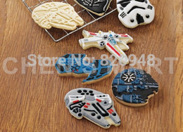 Wholesale Star Wars Cookie Cutter - Bakeware 1 set Star Wars Space Ship Cookie Cutter Press Plunger Cake Decorating Fondant Tool