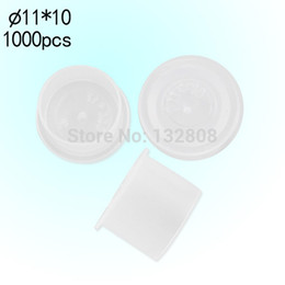 Wholesale Disposable Tattoo Caps - 1000PCS 11mm Tattoo Ink Cups White Plastic Disposable Ink Caps Cups For Tattoo Ink Free Shipping